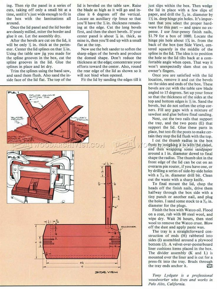 1785 Jewelry Box Plans - Woodworking Plans