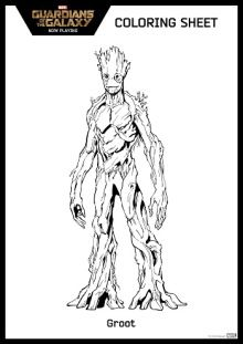 Free Guardian Of The Galaxy Coloring Page Groot