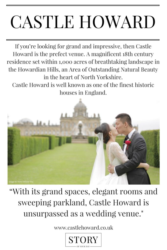 Castle Howard Wedding Venue Yorkshire. UK Wedding Venue.