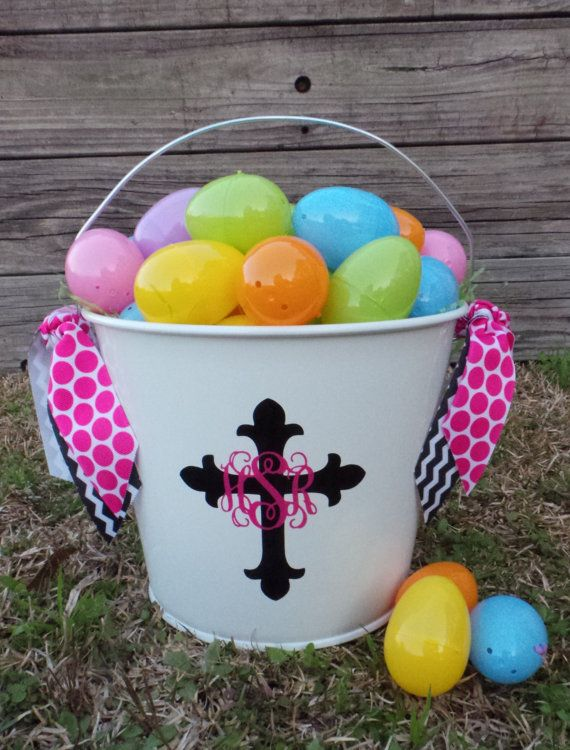 Personalized Easter Bucket - Easter Pail - Monogram Easter Basket