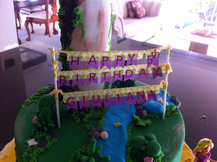 Rapunzel birthday banner