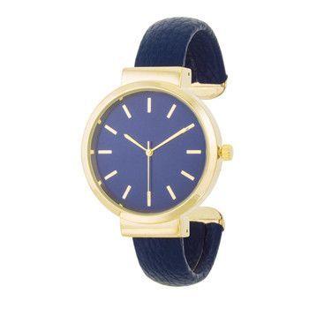 Classic Leather Cuff Watch