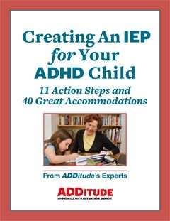 Free download: 11 action steps and 40 great accommodations to consider when creating an IEP for your ADHDer.