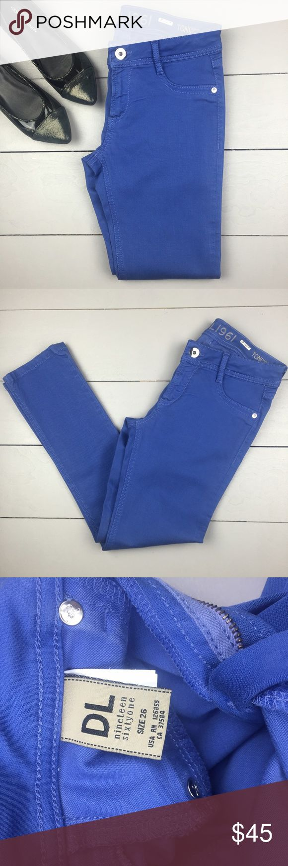 DL1961 Toni jeans Toni Highrise Cropped Jeans.  Dry cleaned one time. DL1961 Pants Ankle & Cropped