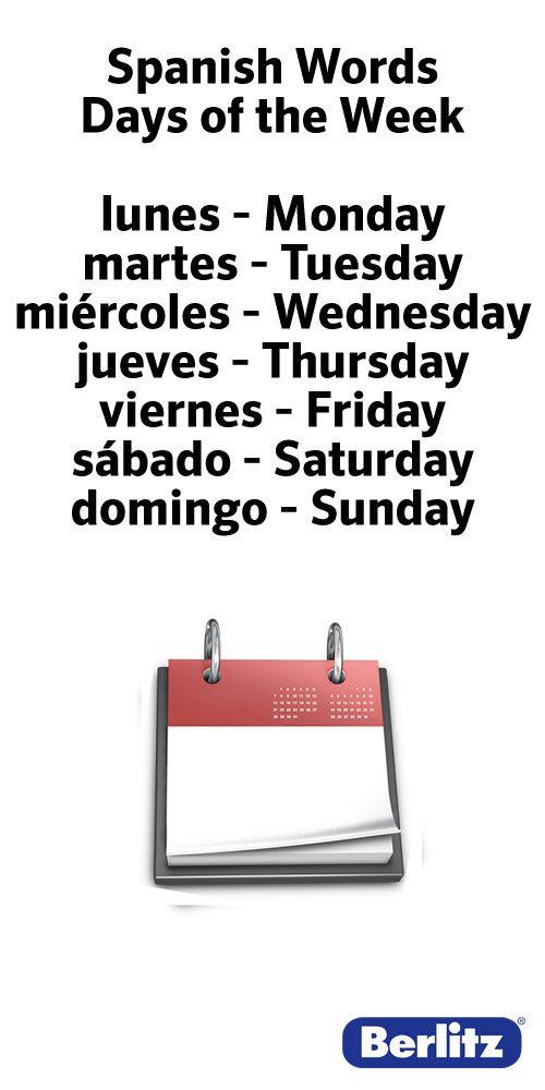 Spanish Words #learning #spanish #kids