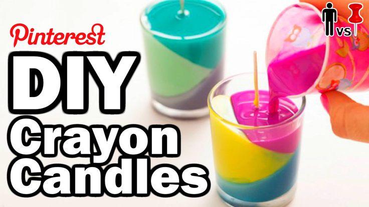 DIY Crayon Candles - Man Vs Pin - Pinterest Test #54--!!Warning!! Adult Language and Disturbing Humor!!  thanks Rob :)