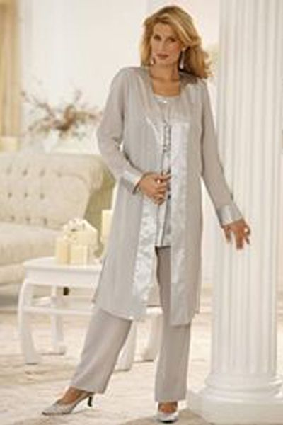 Silver Coat Mother Of The Bride Pans Suits Pant