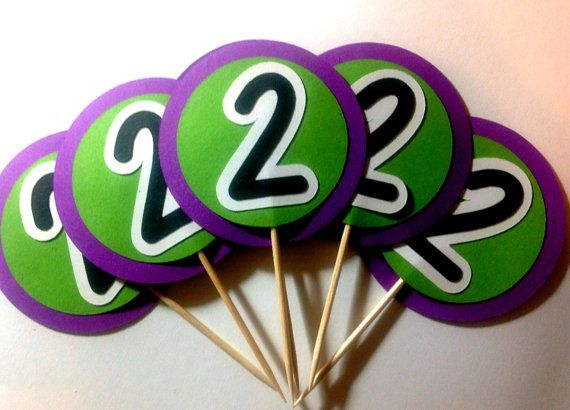Barney the Dinosaur Cupcake Toppers by PaperPiecingDreams on Etsy