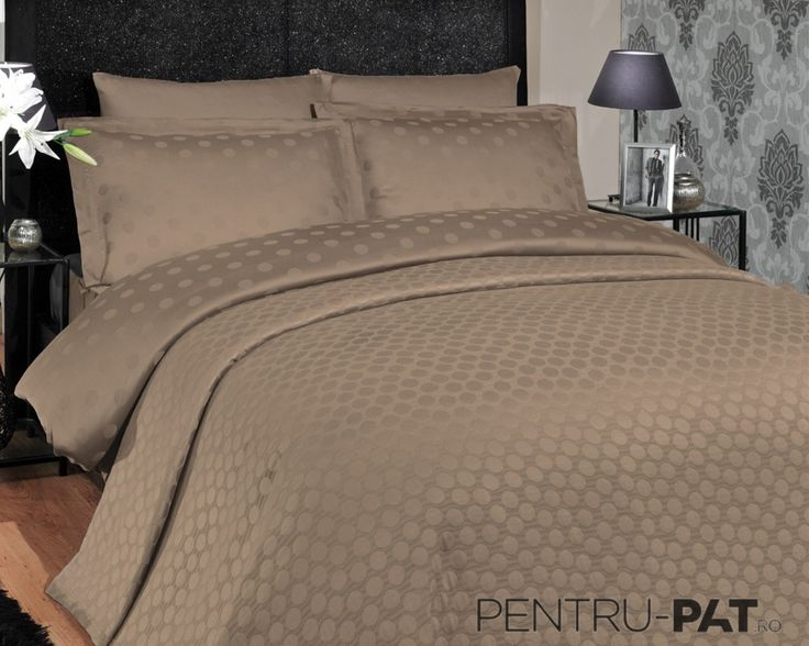 Cuvertura pat pentru doua persoane Hobby Diamond brown