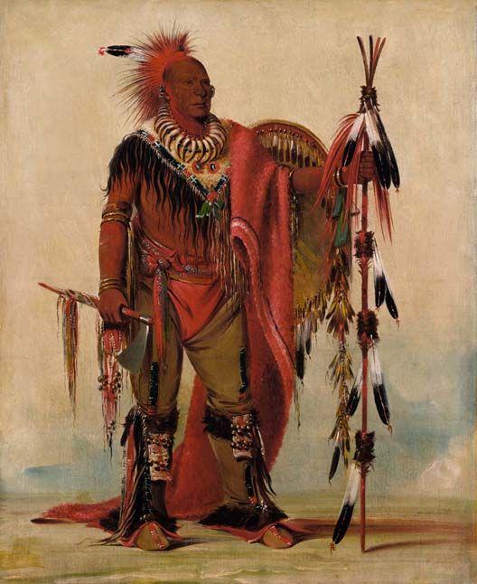 Kee-o-kúk, Watchful Fox or Running Fox, Sauk Chief, (1835)
