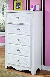 Ashley Furniture Signature Design – Exquisite Chest of Drawers – 5 Drawer Dresser – Kids Bedroom – White