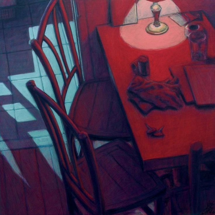 Table rouge 60X60 2005