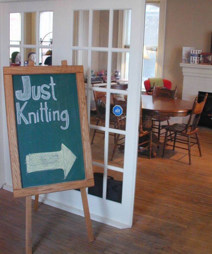 Just Knitting fibre store on Lake Avenue West.