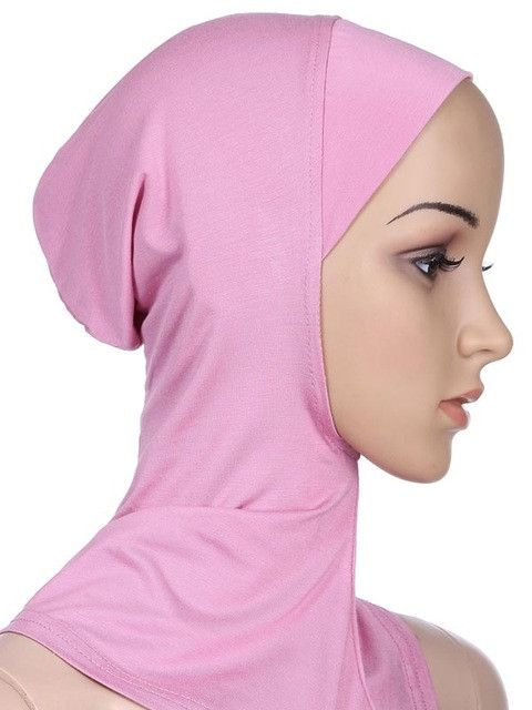 Soft Stretchble Muslim Sport Inner Hijab Caps Islamic Underscarf Hats Crossover Classic Style