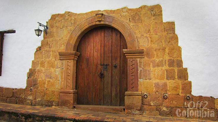 Puerta, casa típica Barichara Colombia