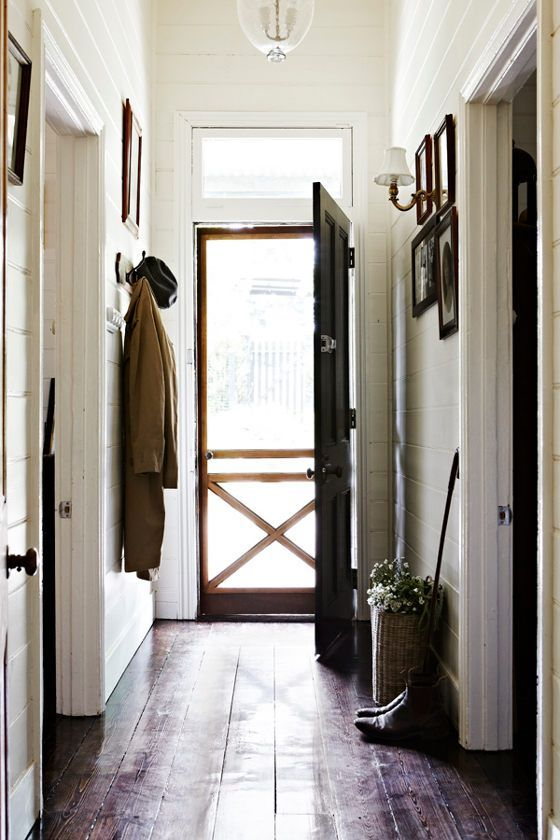 Farmhouse Hallway Entry :: Justin Bishop Interior Design via The Inspired Room blog