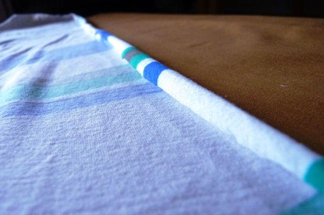 cuatro paredes cuadrados: almidón en aerosol bricolaje: eliminar los bordes rizados en Jersey