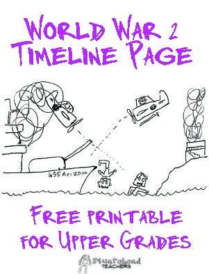 WW2 Timeline STICKER