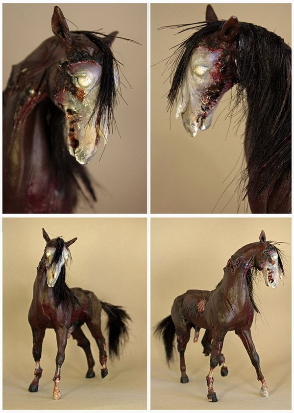 Cheval Zombie par Janine Haq | Zombies in Mixed Media ...