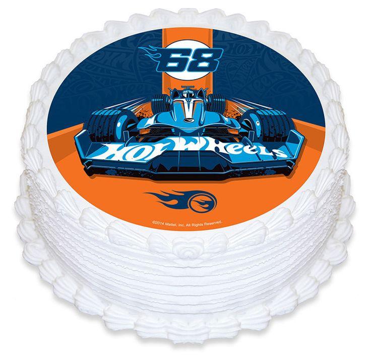 Hot Wheels Edible Cake Image