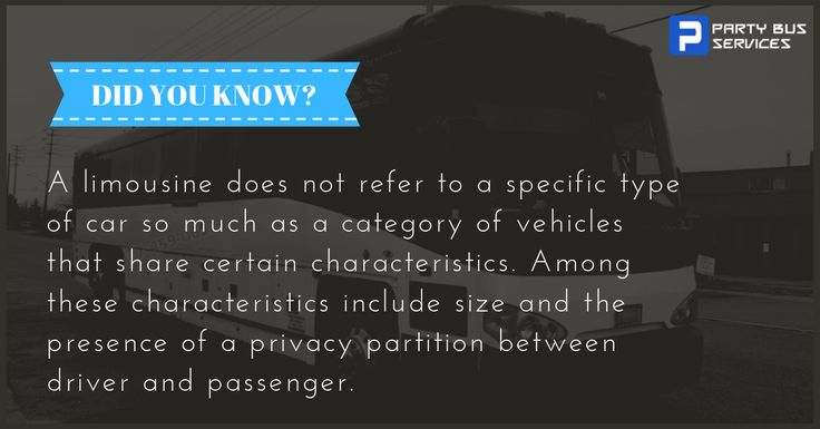 quot;A limousine does not refer to a specific type of car so much as a category …