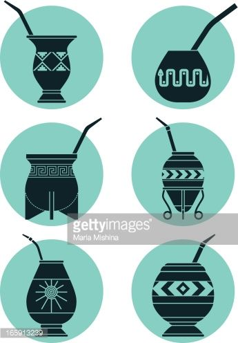 Arte vectorial : Icons with Calabashes