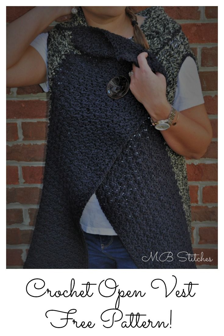 Versatile Sweater Vest - Free Pattern! #fashion #crochet #yarn