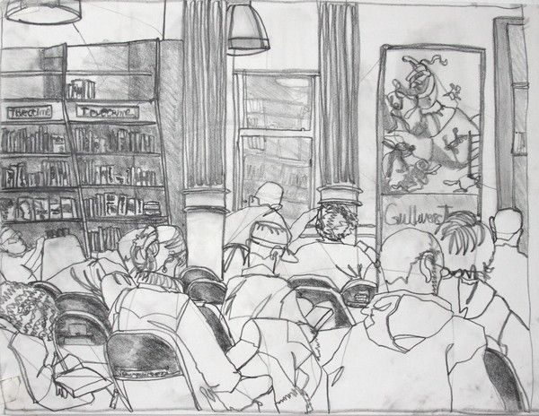 Drawings from John Ruggeri's Drawing NYC Locations class at the School of Visual Arts.