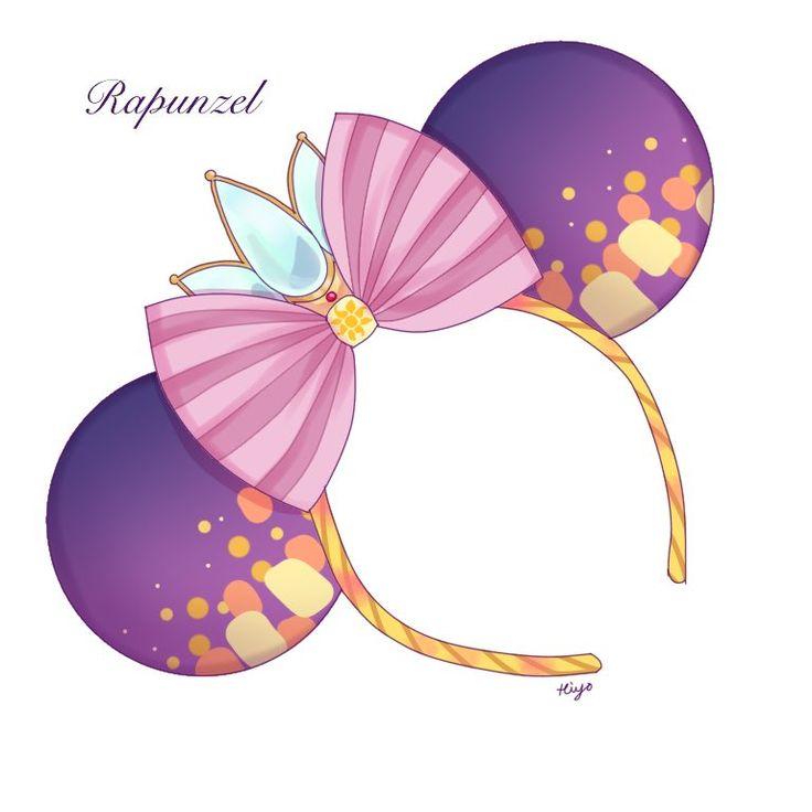 Tangled - Rapunzel Mickey Ears; tiara, I See the Light