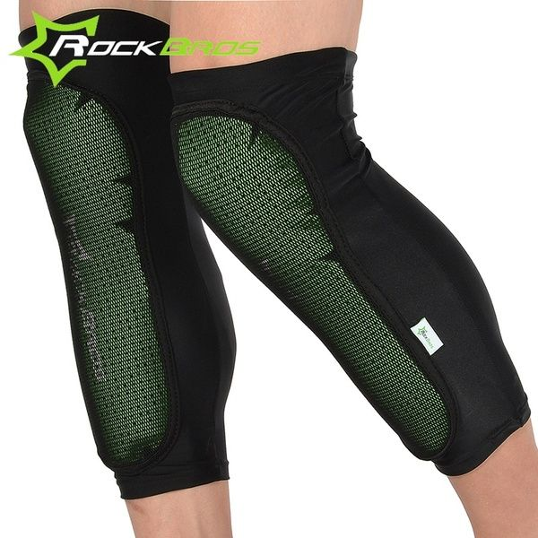 Rockbros Sports Knee Pads Bicycle Knee Pads Outdoor Sports Cycling Knee Protector Caps Mtb Mountain Bike Anticollision Calf Pads Black Wish Best Mtb Sport Outfits Leg Sleeves