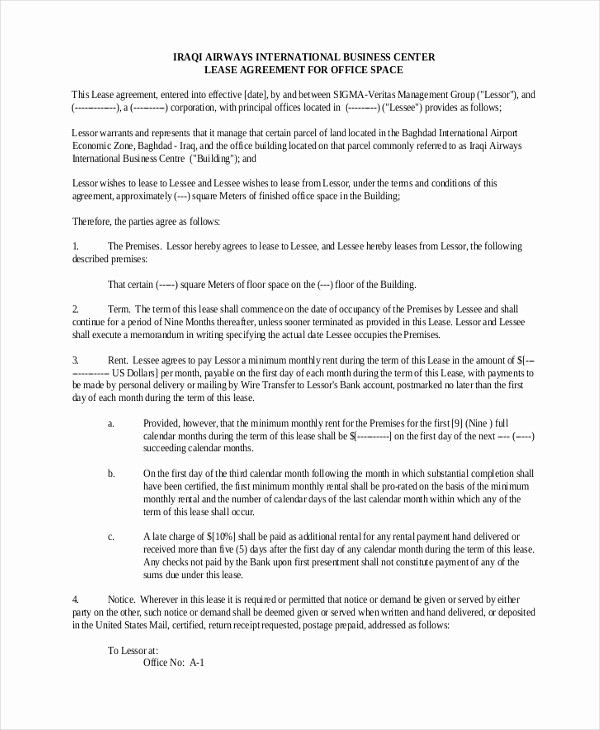 Elegant Sample Mercial Lease Form 9 Free Documents In Pdf Doc Handing In Notice Lease Agreement Curriculum Vitae Template