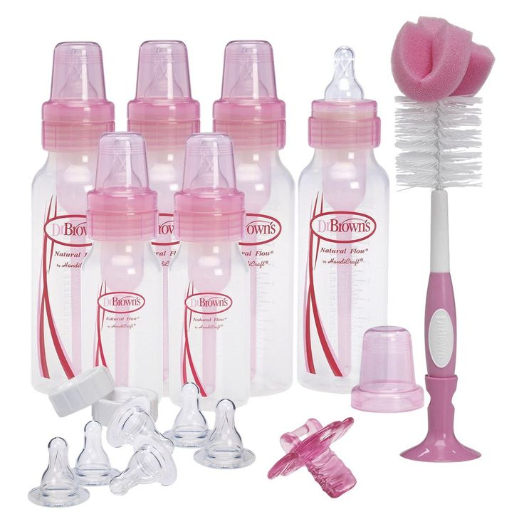 Ideal Dr Brown us pc Baby Bottle Feeding Gift Set Pink