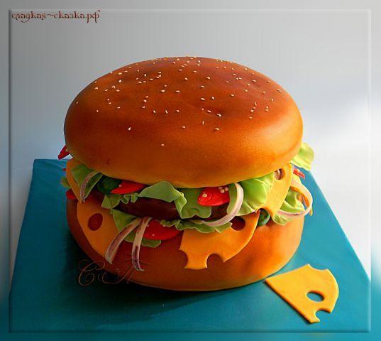 Торт Гамбургер - Торты uxoraliena - Галерея - Семейка