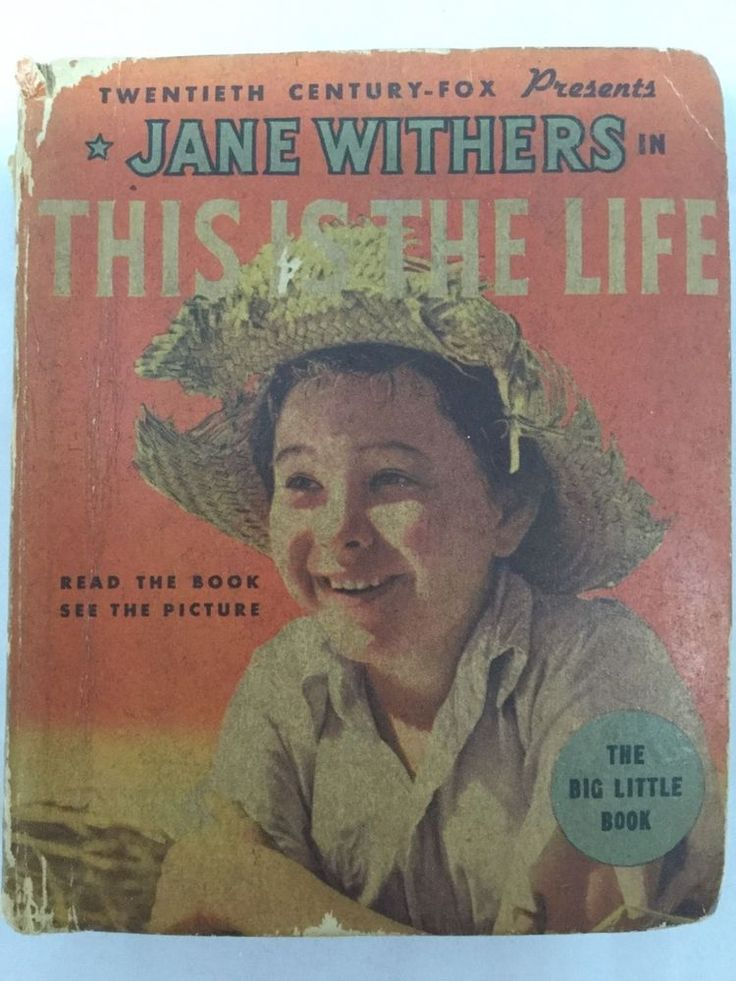 "Jane Withers in This is the Life ""The Big Little Book"" Whitman 20th Century-Fox"