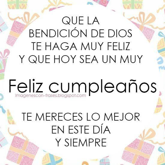 Feliz cumpleaños con la bendición de Dios