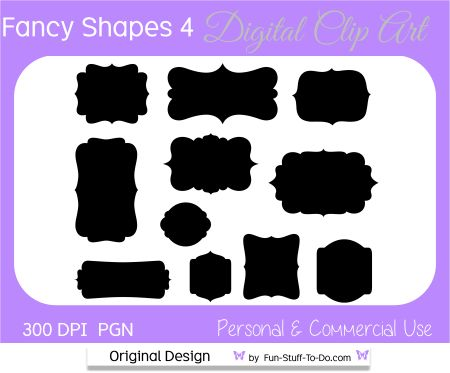Most popular label and frame clip art sets used for design, print and digital scrapbooking. Personal and commercial use printable fancy shapes to download in transparent png format.