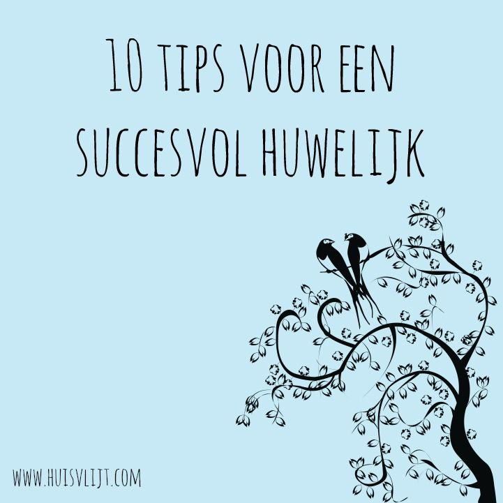 10 tips voor een succesvol huwelijk