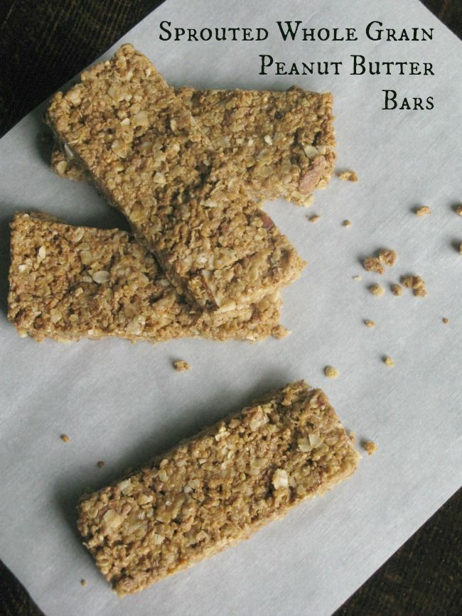 Sprouted Whole Grain Peanut Butter Bars