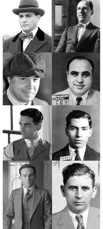 Boardwalk Empire - The actors on the left - and the real person they portray on right. Michael Stuhlbarg as Arnold Rothstein, Stephen Graham as Al Capone, Vincent Piazza as Lucky Luciano