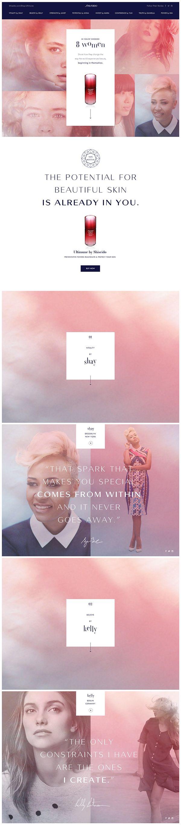 Bold and feminine ecommerce website design