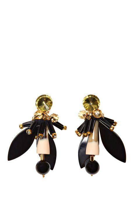 Shop Resin and Crystal Earrings by Marni Now Available on Moda Operandi