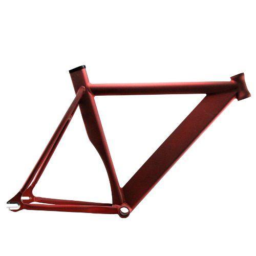 Fixed Gear Bike Frames - Alloy Track Fixie Frame Matte Red 55 ** For more information, visit image link.
