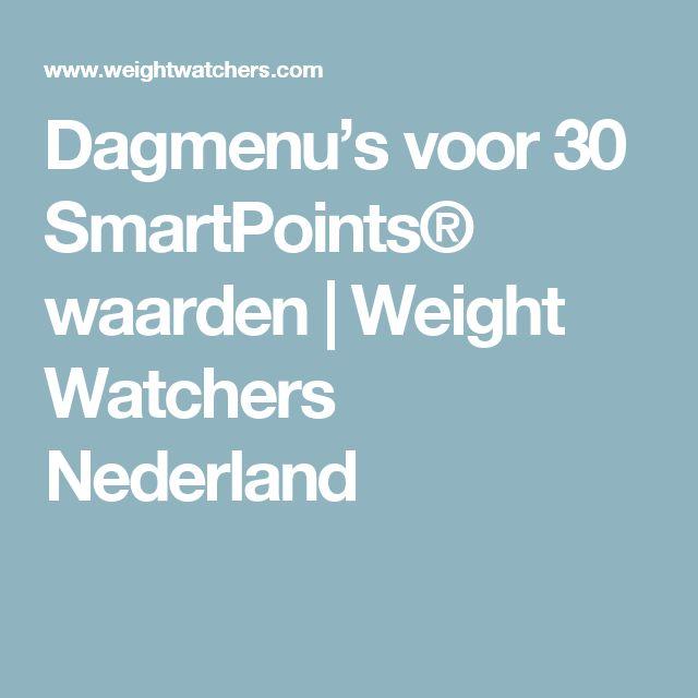 Dagmenu's voor 30 SmartPoints® waarden | Weight Watchers Nederland