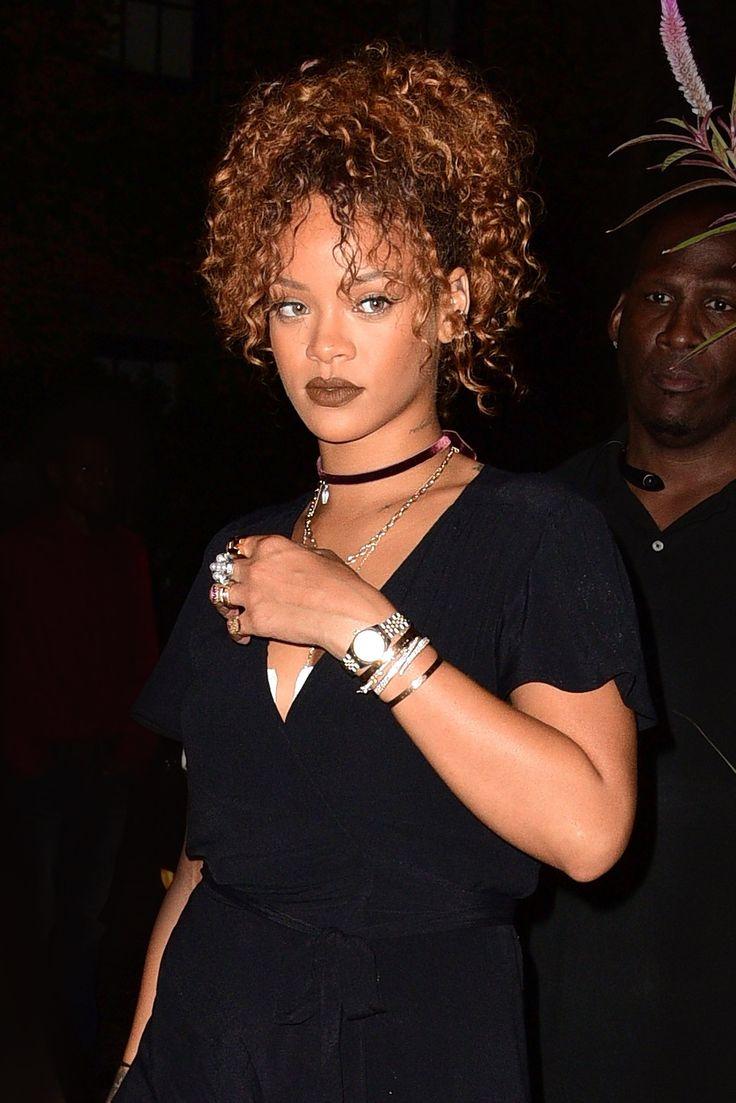 Caramel Brown hair   WHO: Rihanna WHERE: On the street, New York City WHEN: September 7, 2015