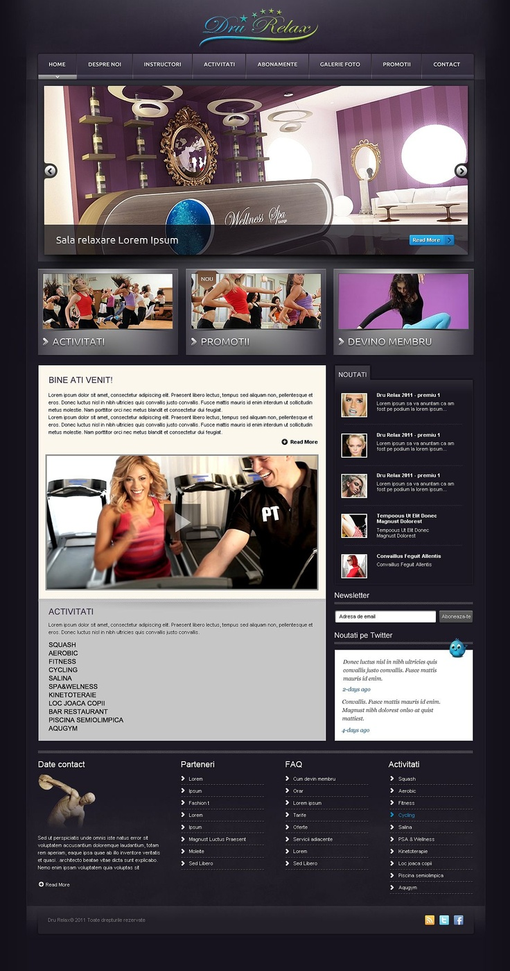 web design site prezentare centru spa