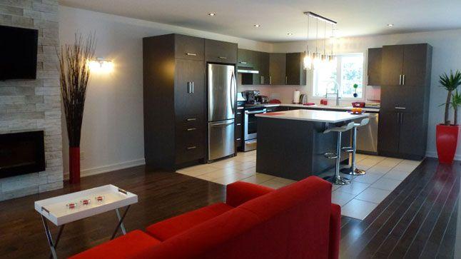 exemple deco salon cuisine aire ouverte en 2019   Déco salon ...