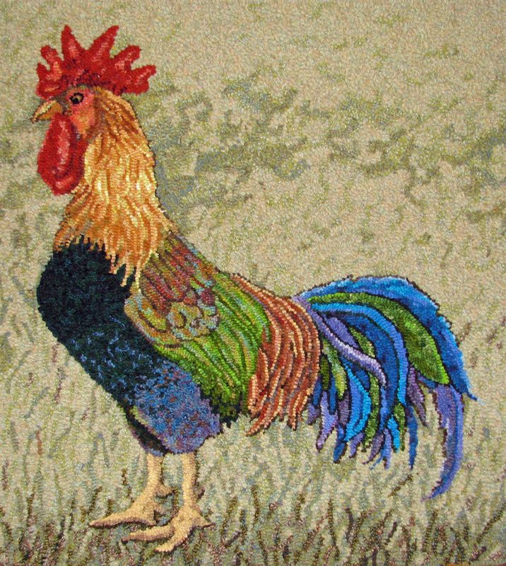17 Best Images About Chicken Hooked Rug On Pinterest Rug