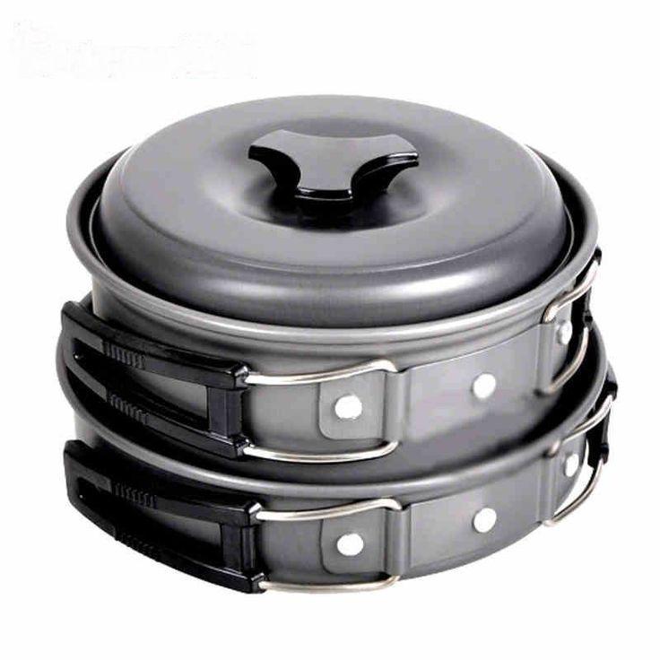 Brand Folding Environmental Pans, Cooking Pots Super Light Outdoor Pot Bowl Set Good Stainless Steel Design