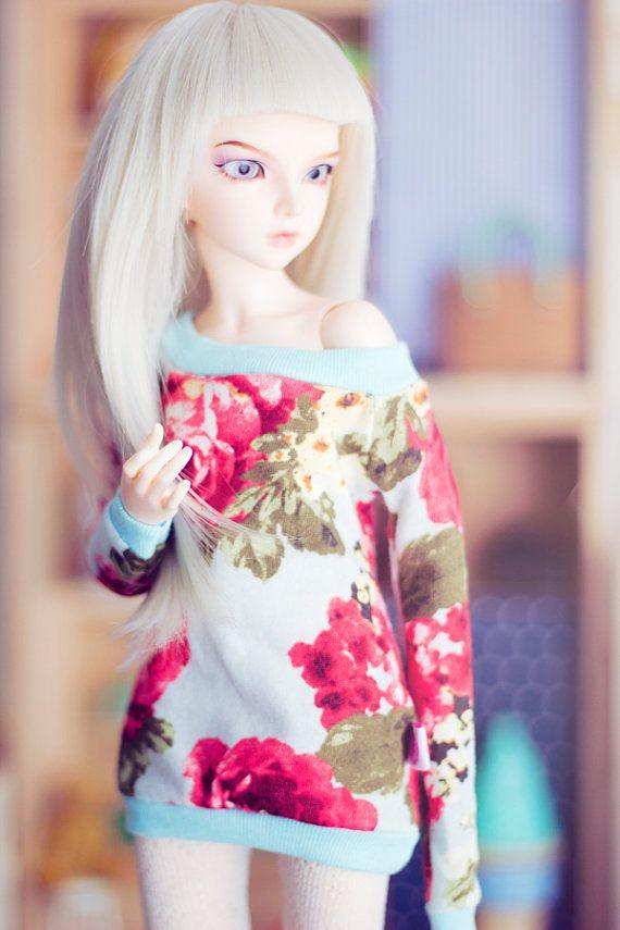 Wild Roses Sweater for bjd MSD size Unoa mnf by sugardollshop, $17.00