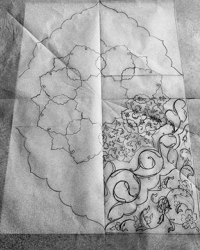 #desen #tasarım #design #taslak #sketch #çizim #karakalem #tezhip #gelenekselsanatlar #traditional #art #mywork #neslihanatar